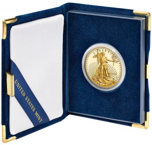 2013-W $50 Proof American Gold Eagle and Case
