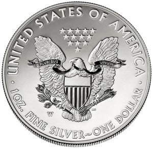 2013-W Enhanced Uncirculated American Silver Eagle - Reverse