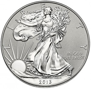2013-W Reverse Proof American Silver Eagle - Obverse