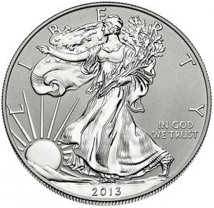 2013-W Reverse Proof American Silver Eagle - Obverse