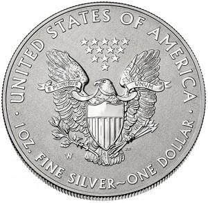 2013-W Reverse Proof American Silver Eagle - Reverse