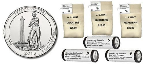 Bags and Rolls of Perry's Victory Quarters