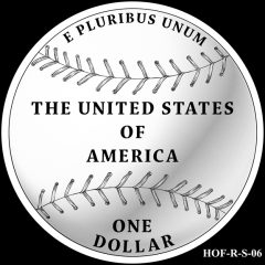 Baseball Coin Design S-06 Candidate