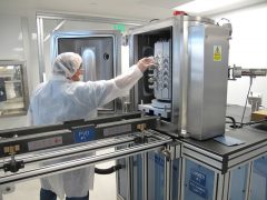 Coin Dies Placed in Physical Vapor Deposition Chamber