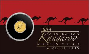 Display Card for Australian Mini Roo 0.5g Gold Coin