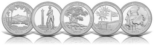 Images of the 2013 America the Beautiful Quarters