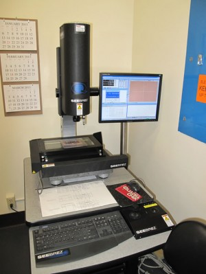 Inspection station for measuring product