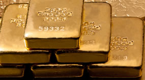 Layers of Gold Bullion