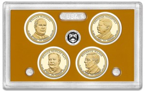 Lense holding 2013-S Proof Presidential $1 Coins