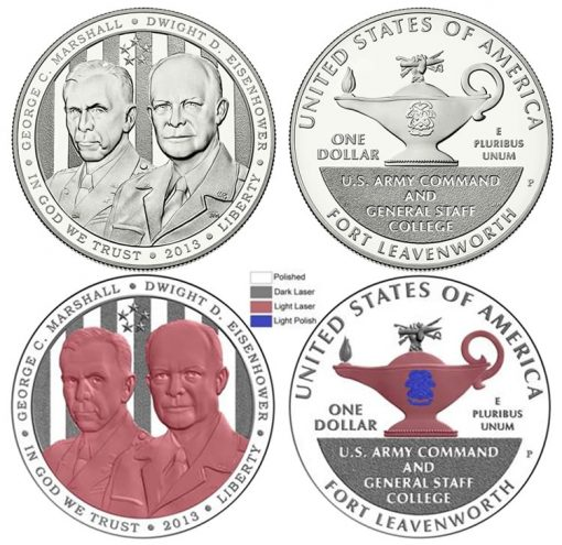 New Proof Polishing and Laser Frosting Technique Used on 2013 Proof 5-Star Generals Silver Dollar