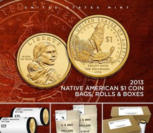 Promotion image of 2013 Native American $1 Coin and Products
