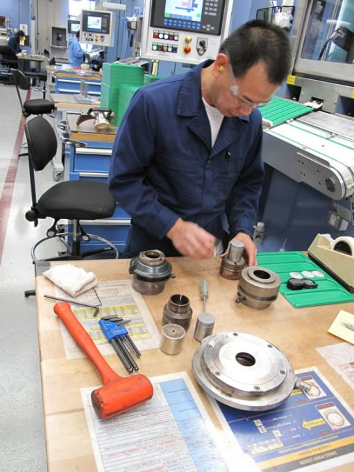 David Atienza assembling die tooling, photo 2