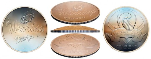 Shapes of 2014 National Baseball Hall of Fame Commemorative Gold and Silver Coins