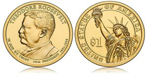 US Mint Sales: Theodore Roosevelt Presidential $1s Debut