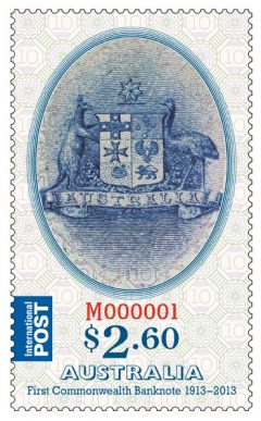 $2.60 Stamp Commemorating Australia's First Banknote