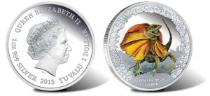 2013 Frilled Neck Lizard Silver Coin Begins Reptiles Series