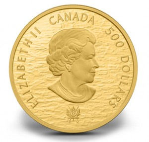 2013 HMS $500 Gold Shannon and USS Chesapeake Commemorative Coin - Obverse