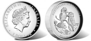2013 Kookaburra Silver High Relief Proof Coin