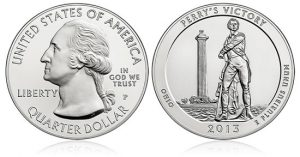 2013-P Perry's Victory Five Ounce Silver Uncirculated Coin