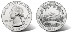 2013-P White Mountain National Forest Five Ounce Silver Uncirculated Coin