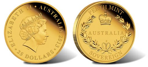 2013 Proof Australian Gold Sovereign Coin