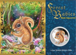 2013 Red Squirrel Silver Proof Coin in Presentation Card