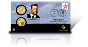 2013 Theodore Roosevelt Presidential $1 Coin Cover
