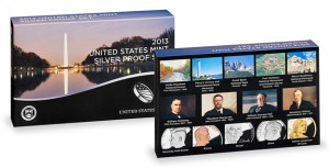 2013 US Mint Silver Proof Set Packaging