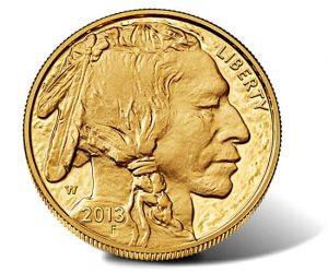 2013-W $50 Proof Gold Buffalo - Obverse