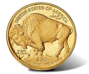 2013-W $50 Proof Gold Buffalo - Reverse