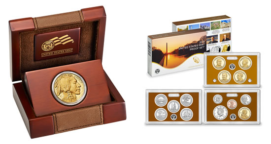 2013-W Proof Gold Buffalo and 2013 Proof Set
