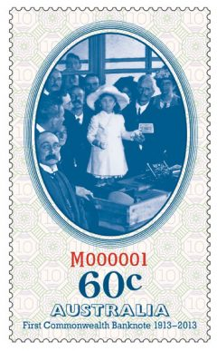 60c Stamp Commemorating Australia's First Banknote
