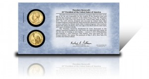Back of 2013 Theodore Roosevelt Presidential $1 Coin Cover