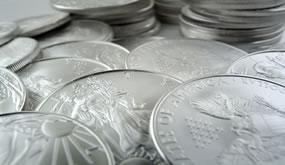 Bullion American Eagle silver coins