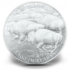 Canadian 2013 $100 Bison Silver Coin for $100