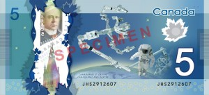 Canadian $5 Polymer Banknote - Back