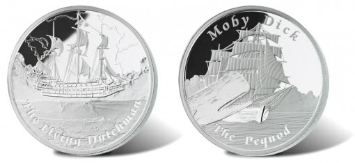 Flying Dutchman and Pequod Silver Proof Coins
