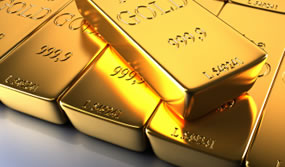 Layered Gold Bars
