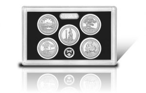 Lense with 2013-S Proof America the Beautiful Quarters in 90 Percent Silver