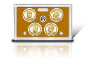 Lense with 2013-S Proof Presidential $1 Coins