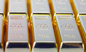 Nine Gold Bullion Bars