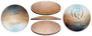 Clad 50c Baseball Coin to Sport Curved Shape
