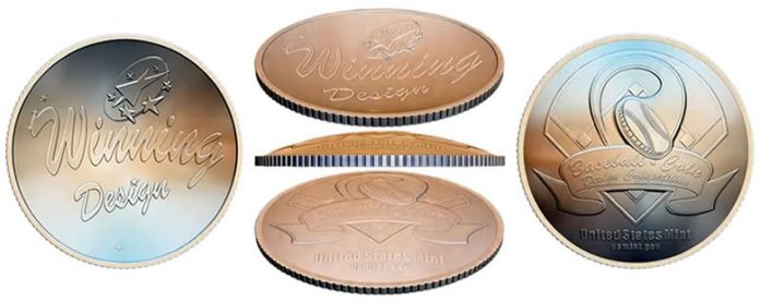 Shapes of 2014 National Baseball Hall of Fame Commemorative Coins