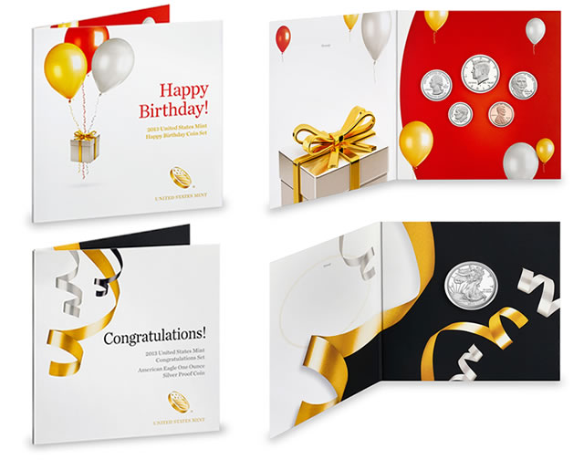 US Mint Birthday and Congratulations Sets