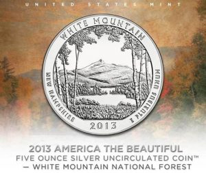 US Mint Promotion Image of White Mountain National Forest Uncirculated Coin