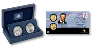 West Point Silver Eagle Set and Roosevelt Presidential $1 Coin Cover