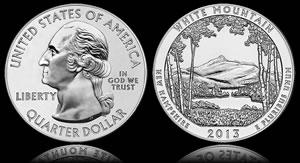 White Mountain Five Ounce Silver Bullion Coin