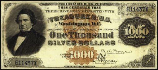 1880 $1000 Silver Certificate