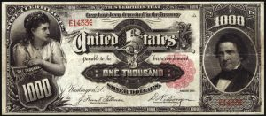 1891 $1,000 Marcy Silver Certificate Sold for Record $2.6 Million