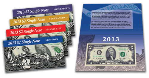 2013 $2 Single Note Collection